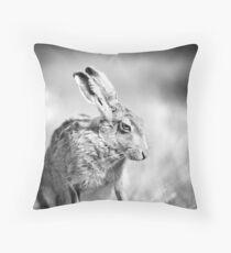 Moon Hare Throw Pillow