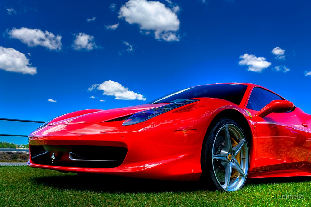 Quot Candy Apple Red Ferrari Quot By Joe Jennelle Redbubble