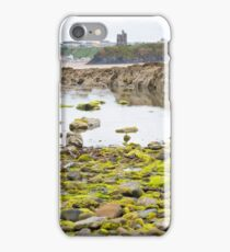 ballybunion castle kelp covered rocks iPhone Case/Skin