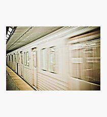 Edgy Train Photographic Print