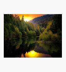 Green Peter Reservoir and Quartzville Creek Photographic Print
