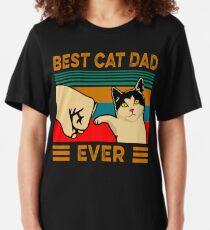 Best cat dad ever Slim Fit T-Shirt