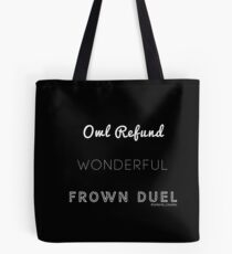 Wonderful Frown Duel Tote Bag