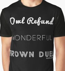 Wonderful Frown Duel Graphic T-Shirt