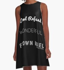 Wonderful Frown Duel A-Line Dress