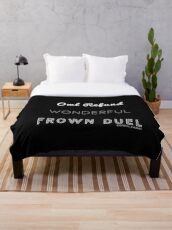 Wonderful Frown Duel Throw Blanket