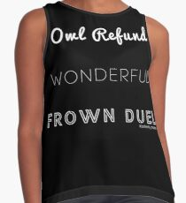 Wonderful Frown Duel Sleeveless Top