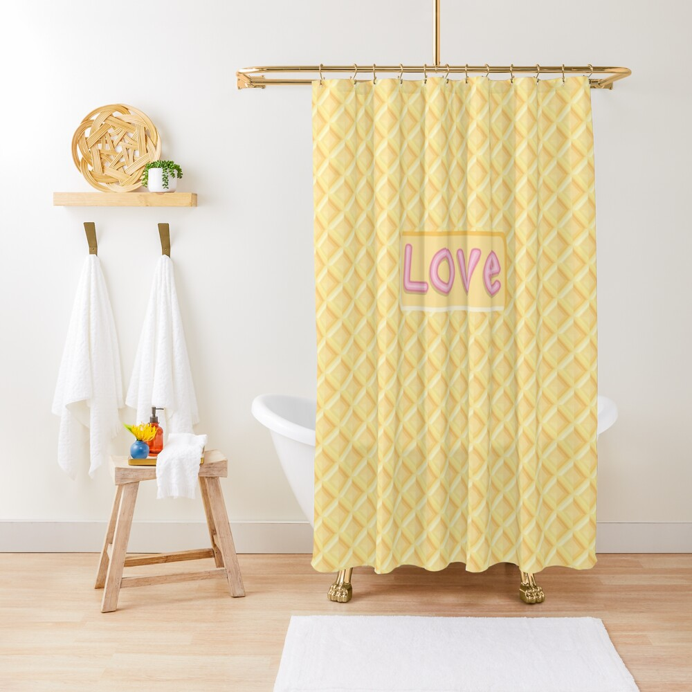 Wafer Cookie Love Shower Curtain