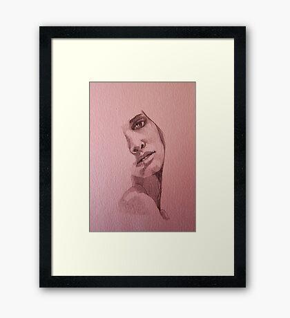 Sketch for Beth Framed Print
