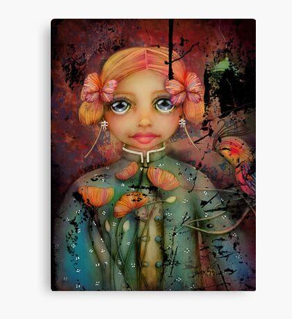 the poppy princess Canvas Print