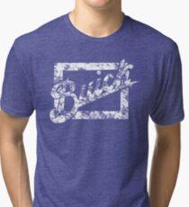 Buick Vintage Logo 1  White Script Tri-blend T-Shirt