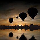 Sunset Balloon Reflection by John Dalkin