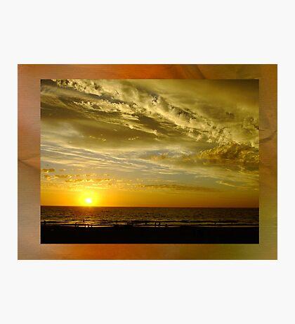 Framed Sunset - Ocean Reef, Perth, Western Australia Photographic Print