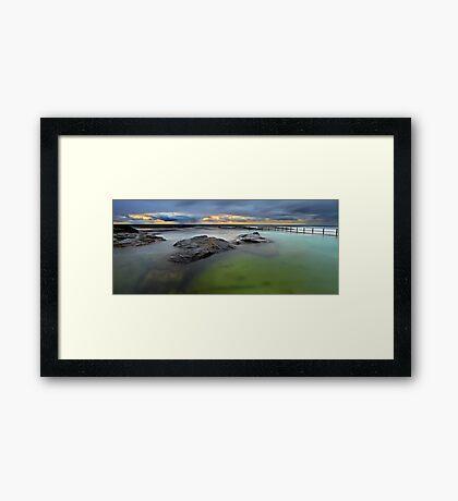 North Curl Curl Baths Framed Print