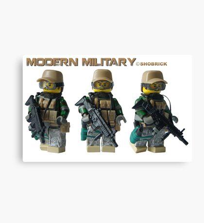 Modern Military Fox Canvas Print