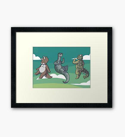 Mini Dinosaurs 2 Framed Print