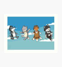 Mini Wolves Art Print