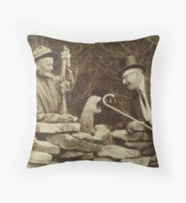 The First Groundhog Day Throw Pillow