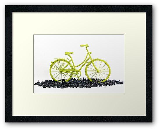 Bicycle triumphs traffic by Sean Kenney