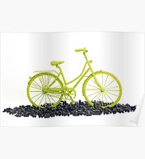 Bicycle triumphs traffic Poster