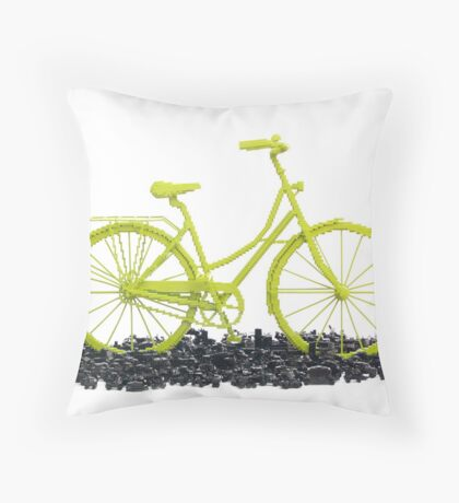 Bicycle triumphs traffic Throw Pillow