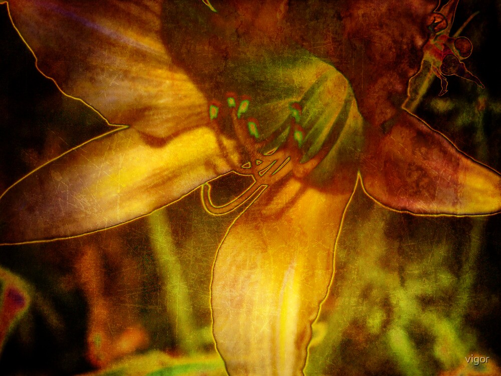 Digital Abstract Lily by vigor