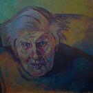 Grampa getting up. by Kathylowe