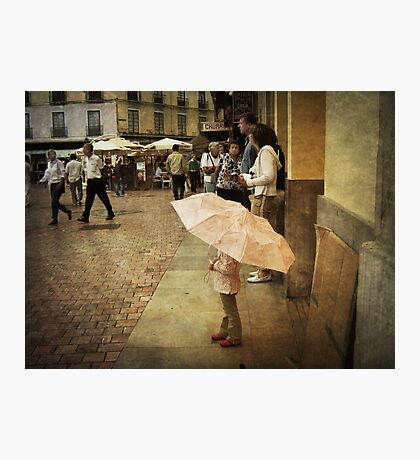 Little Girl Holding an Umbrella Photographic Print