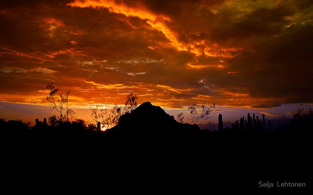 Monsoon Sunset  by Saija  Lehtonen