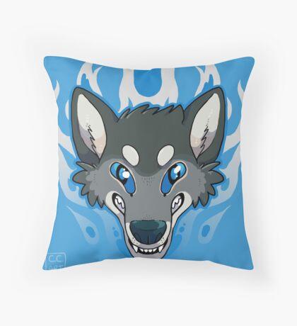 Fiery Wolf Throw Pillow