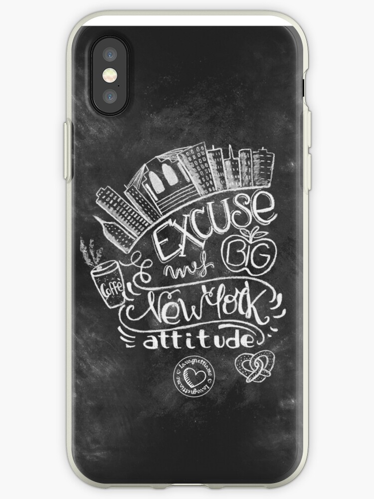 New York Attitude handmade chalk art design by lavagnettiamo