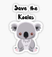 Save the Koalas Sticker