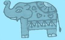 Elephant Scarf for Imogen's Birthday by Freya Elliott