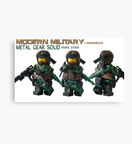 Modern Military Snake Canvas Print
