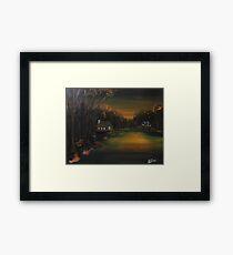 Golden Dusk Framed Print