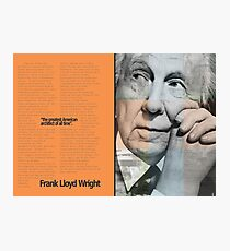Frank L. Wright Spread (Mock) Photographic Print