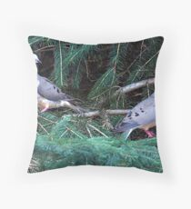 Mourning Doves Throw Pillow