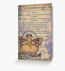 Midsummer Night's Fairy Greeting Card