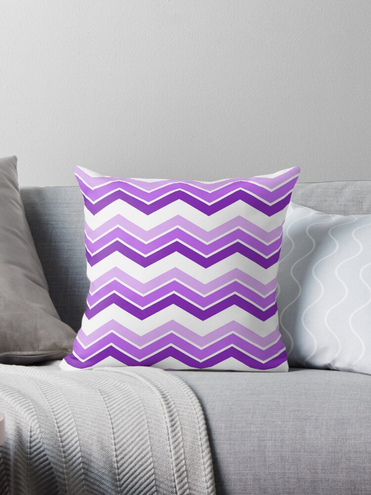 Lilac Ombre Chevrons by ImageNugget