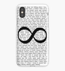 One Direction Infinity Lyrics iPhone Case