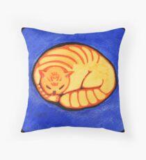 Round Golden Throw Pillow
