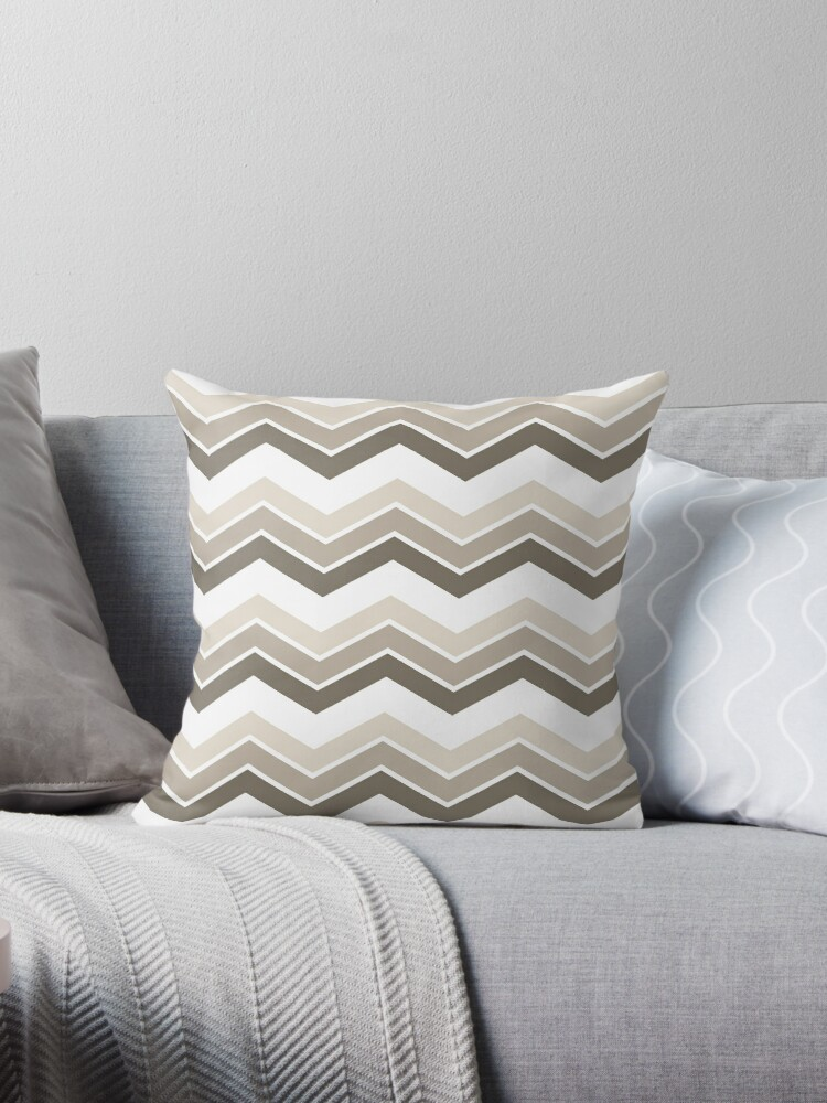 WarmGrey Ombre Chevrons by ImageNugget