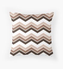 Chocolate Ombre Chevrons Throw Pillow
