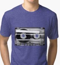 Cassette Tape Mixtape Clear Plastic Tri-blend T-Shirt