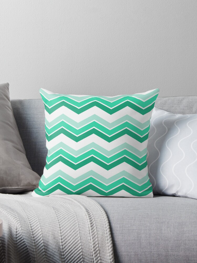 Mint Ombre Chevrons by ImageNugget