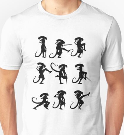 Ministry of Alien Silly Walks (Black Version) T-Shirt