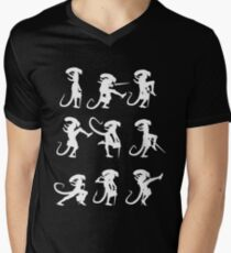Ministry of Alien Silly Walks (White Version) Men's V-Neck T-Shirt
