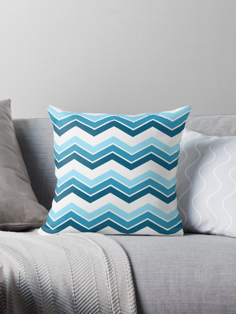 Blue Ombre Chevrons by ImageNugget