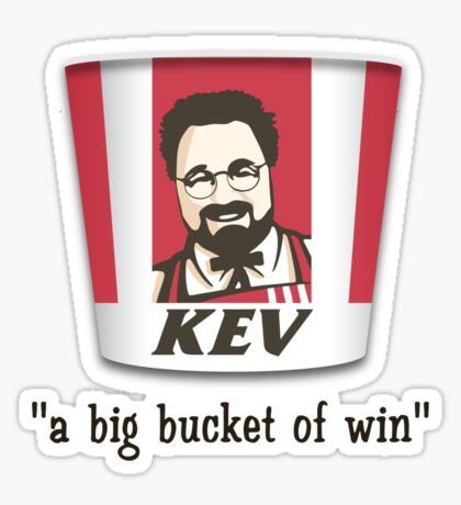 A Big Bucket of Kev Sticker