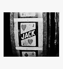 jack of hearts: vintage poker machine Photographic Print